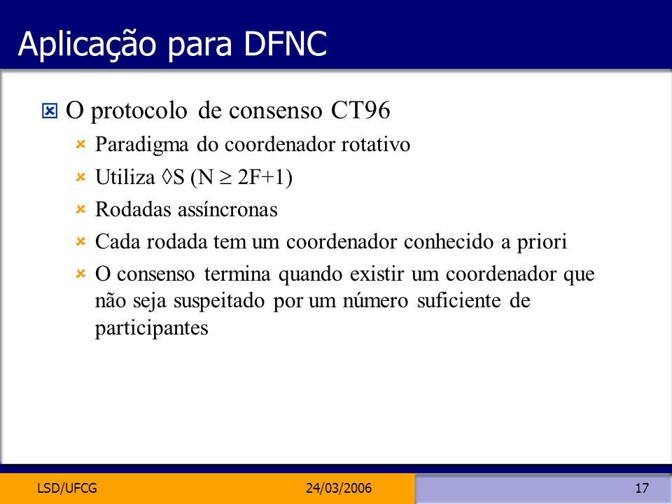 Aplicação para DFNC O protocolo de consenso CT96