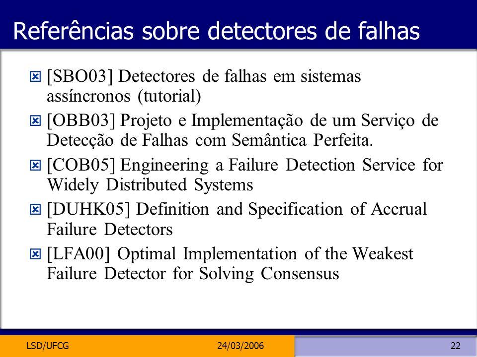 Referências sobre detectores de falhas