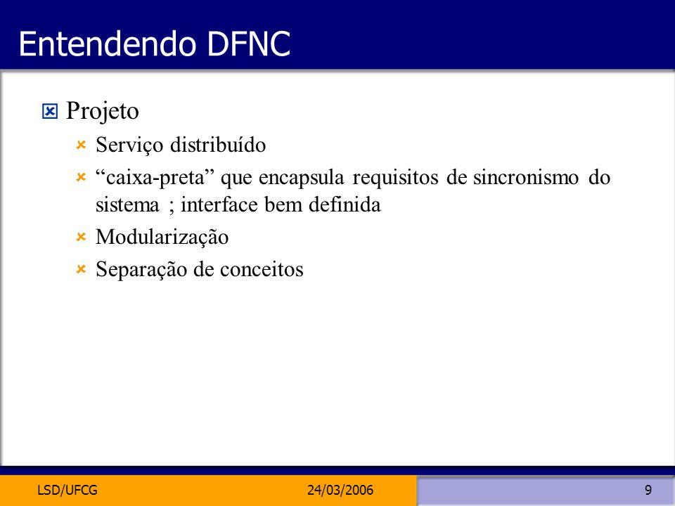 Entendendo DFNC Projeto Serviço distribuído