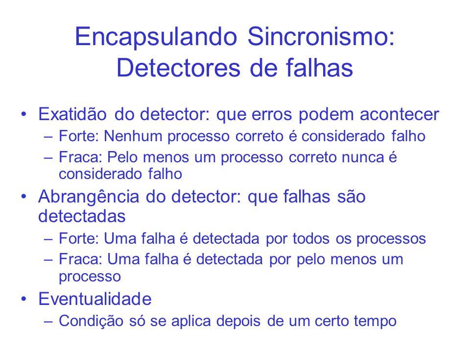 Encapsulando Sincronismo: Detectores de falhas