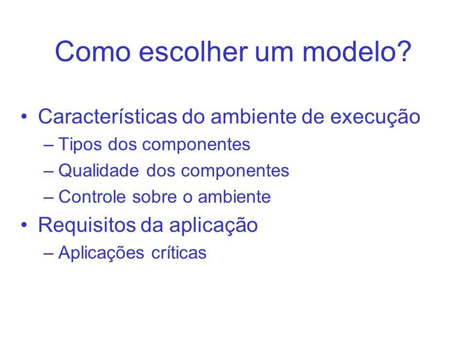 Como escolher um modelo
