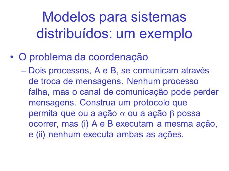 Modelos para sistemas distribuídos: um exemplo