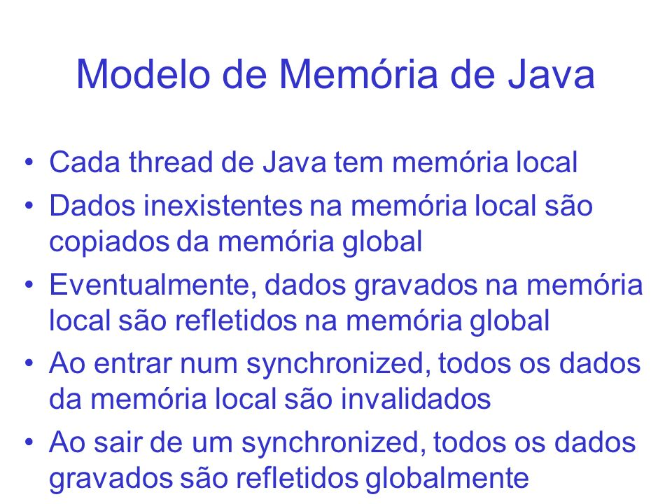 Modelo de Memória de Java
