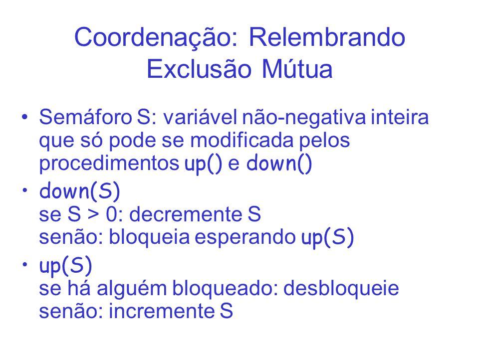 Coordenação: Relembrando Exclusão Mútua