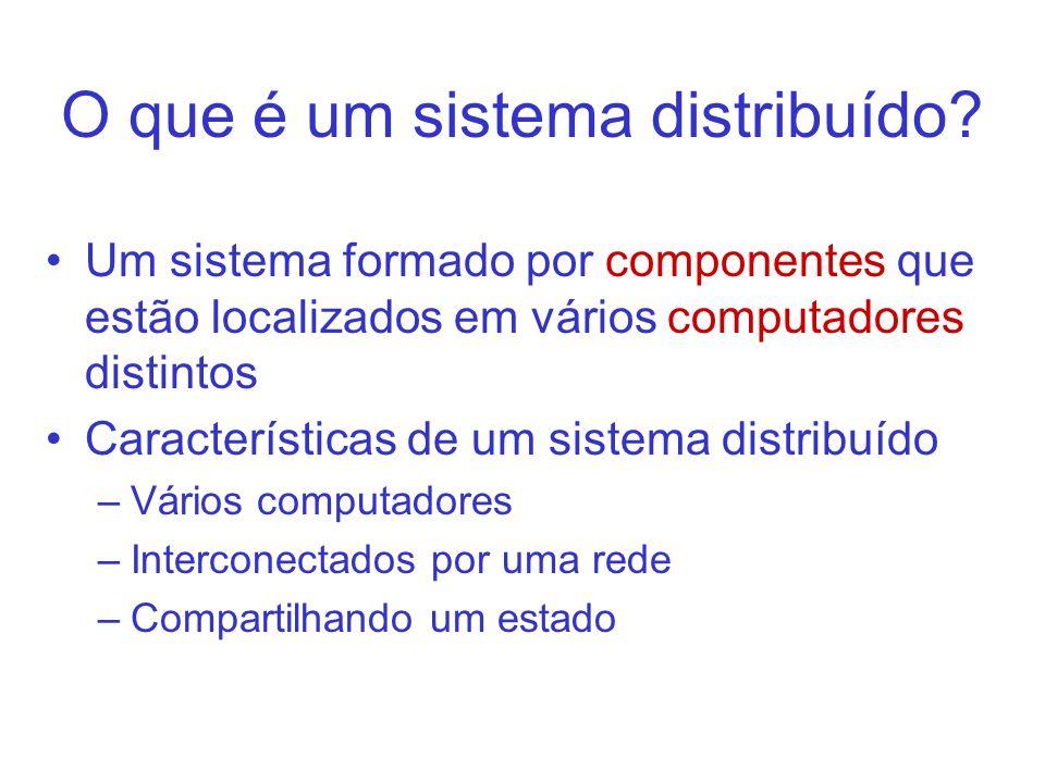 O que é um sistema distribuído