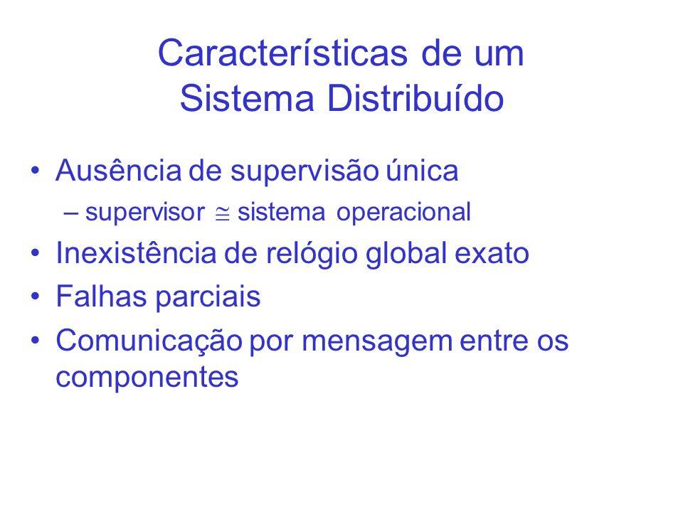 Características de um Sistema Distribuído