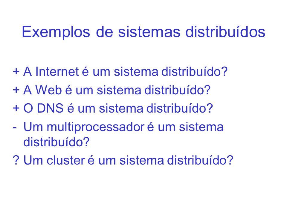 Exemplos de sistemas distribuídos