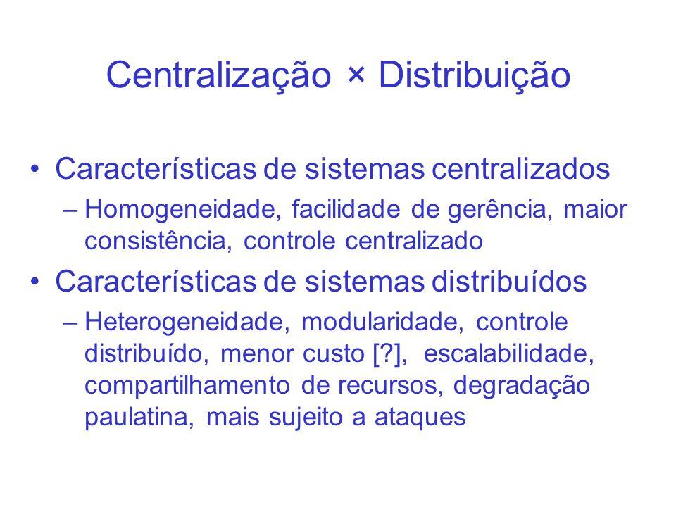 Centralização × Distribuição