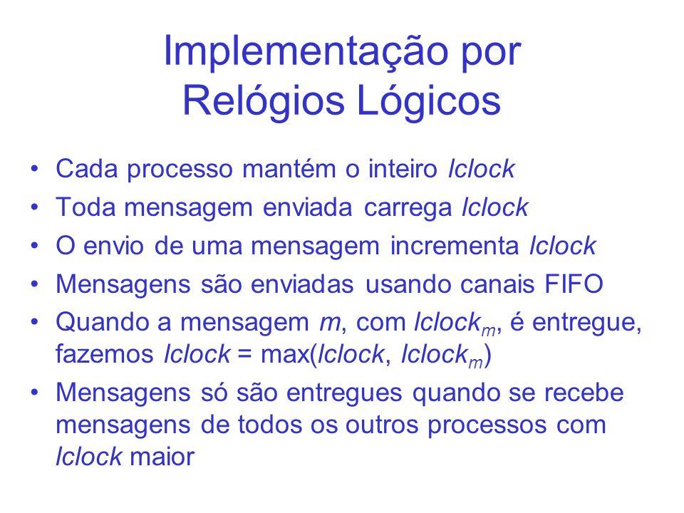 Implementação por Relógios Lógicos