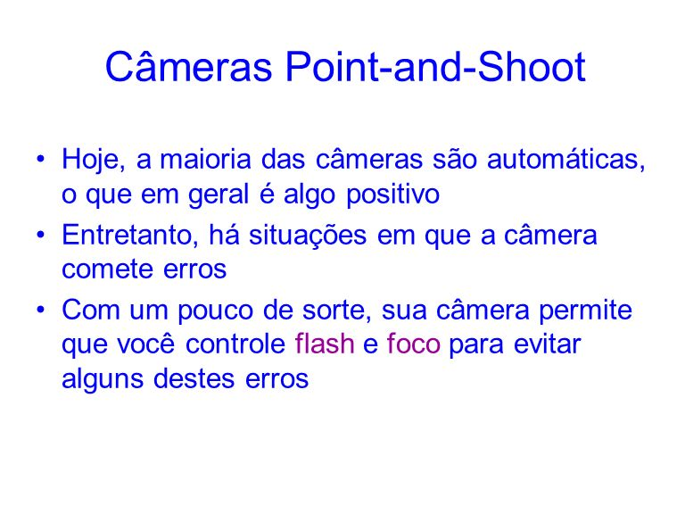 Câmeras Point-and-Shoot