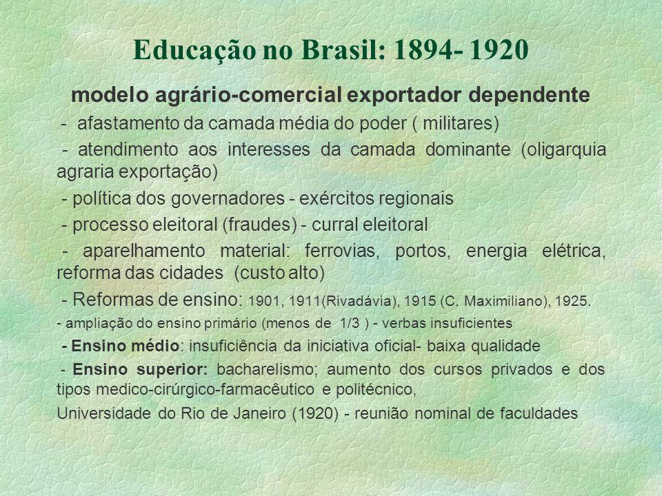 modelo agrário-comercial exportador dependente