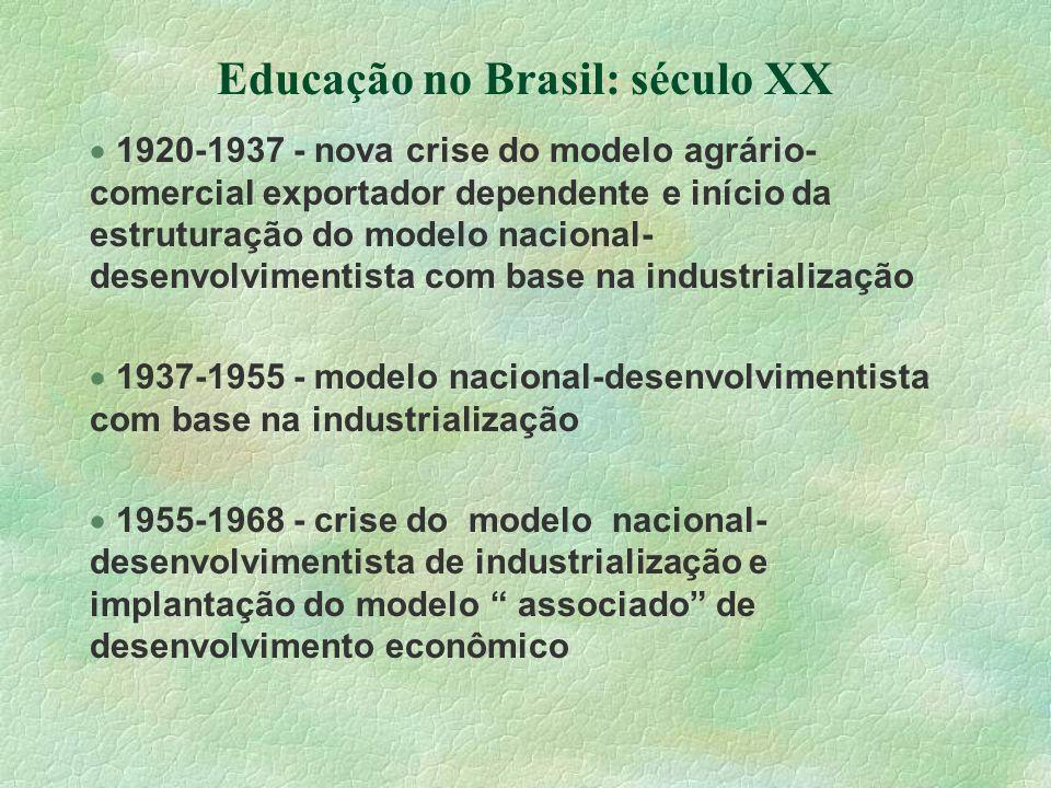 Educação no Brasil: século XX
