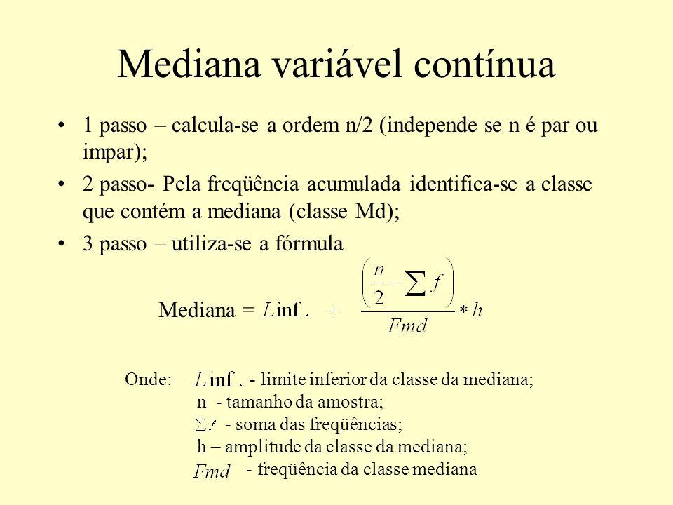 Mediana variável contínua