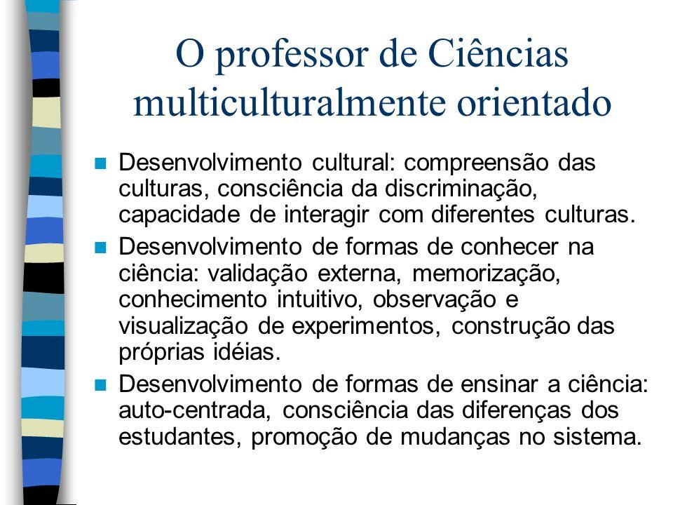 O professor de Ciências multiculturalmente orientado