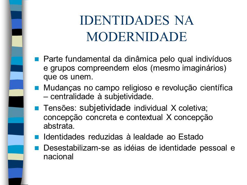 IDENTIDADES NA MODERNIDADE