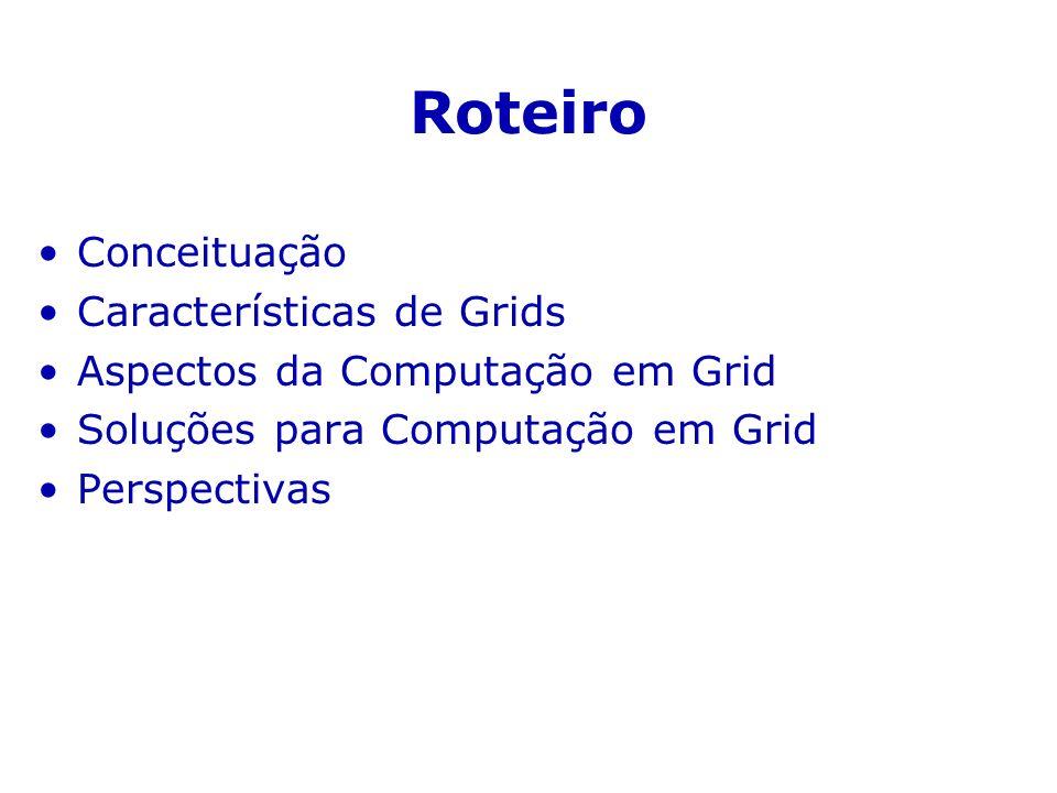 Roteiro Conceituação Características de Grids