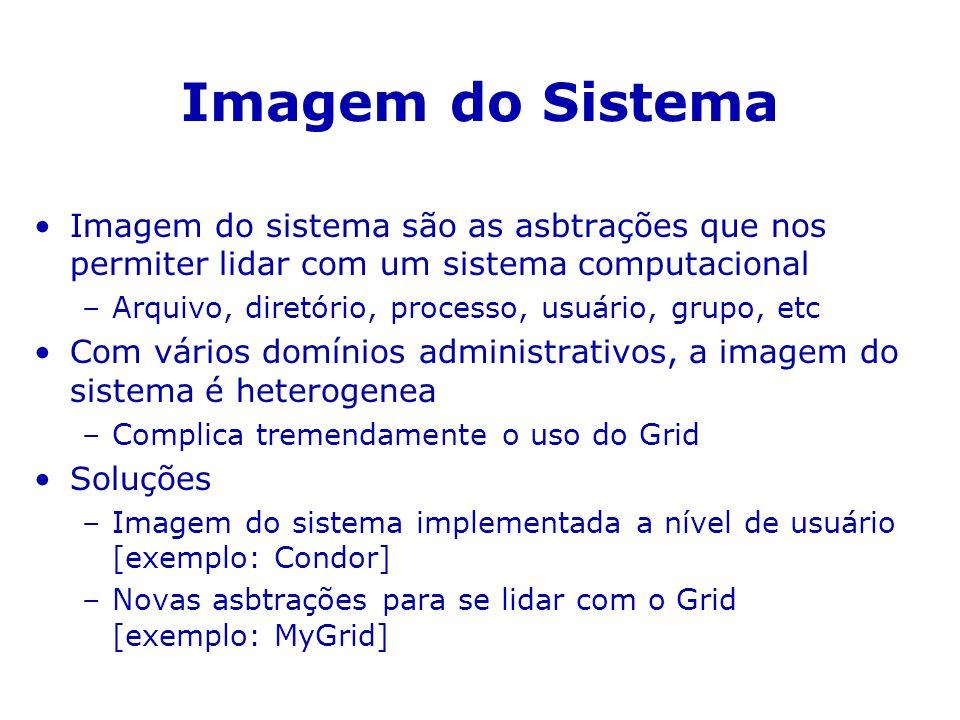 Imagem do Sistema Imagem do sistema são as asbtrações que nos permiter lidar com um sistema computacional.