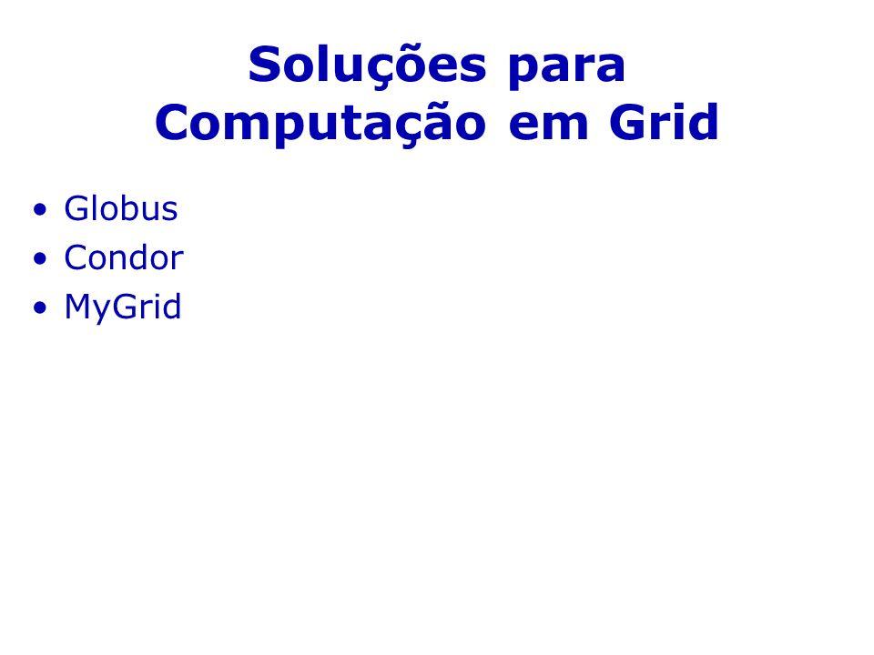 Soluções para Computação em Grid