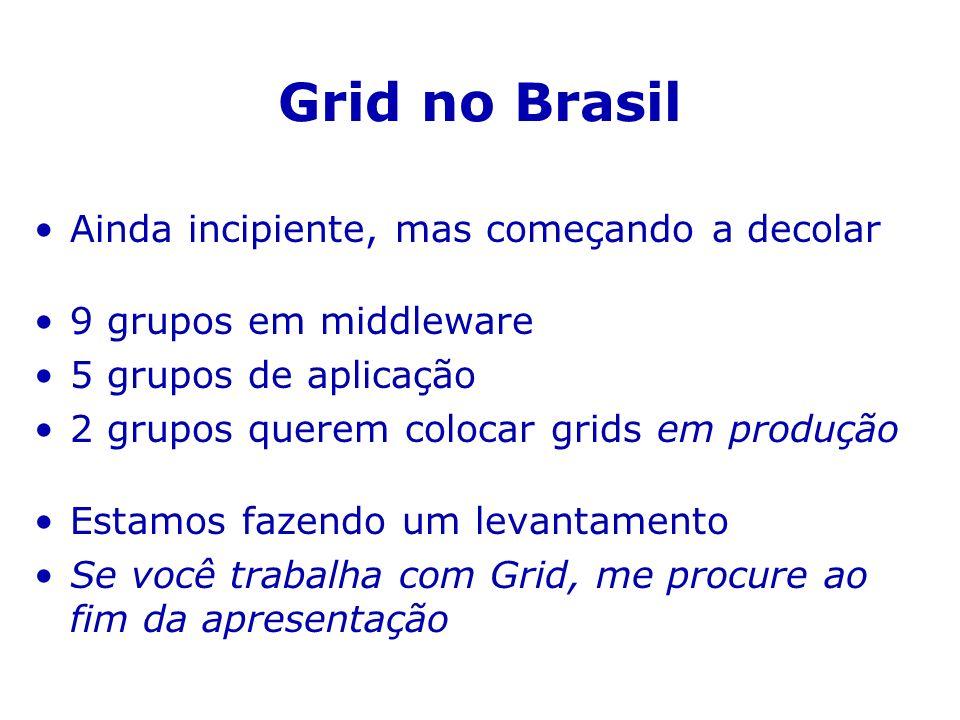 Grid no Brasil Ainda incipiente, mas começando a decolar
