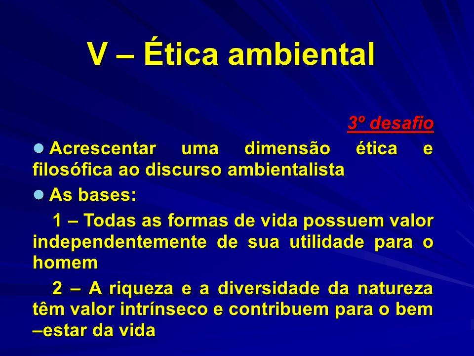 V – Ética ambiental 3º desafio