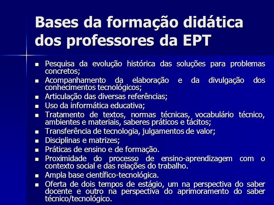 Bases da formação didática dos professores da EPT