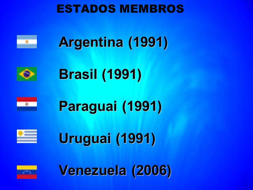 Brasil (1991) Paraguai (1991) Uruguai (1991) Venezuela (2006)