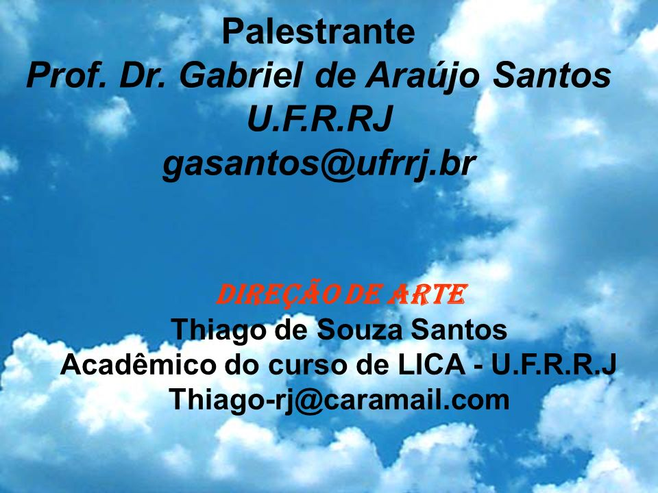 Acadêmico do curso de LICA - U.F.R.R.J