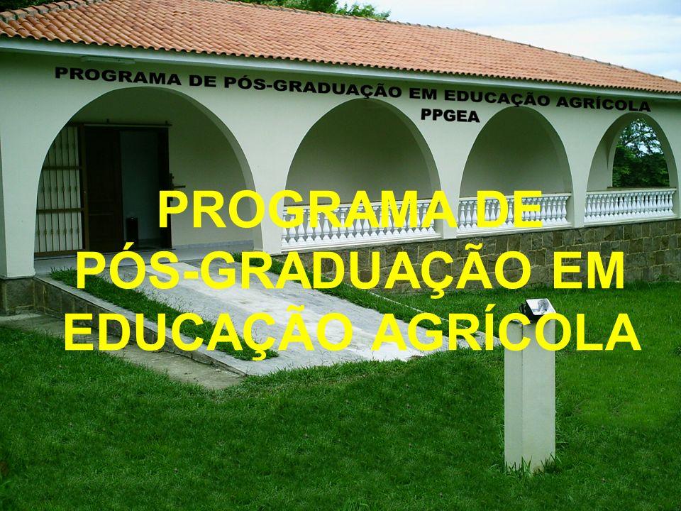 PROGRAMA DE PÓS-GRADUAÇÃO EM EDUCAÇÃO AGRÍCOLA