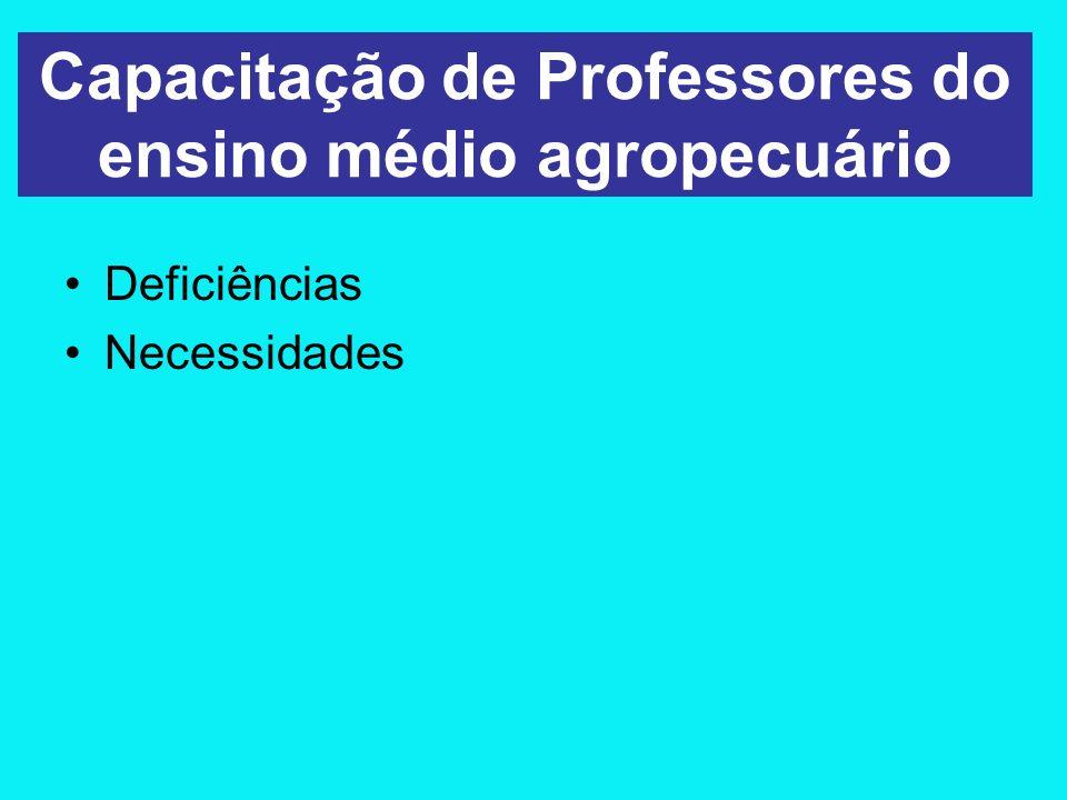 Capacitação de Professores do ensino médio agropecuário