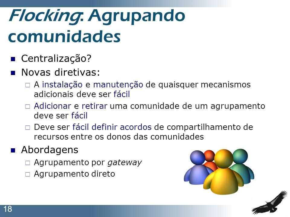 Flocking: Agrupando comunidades