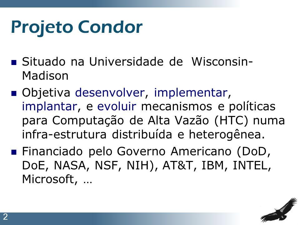 Projeto Condor Situado na Universidade de Wisconsin-Madison