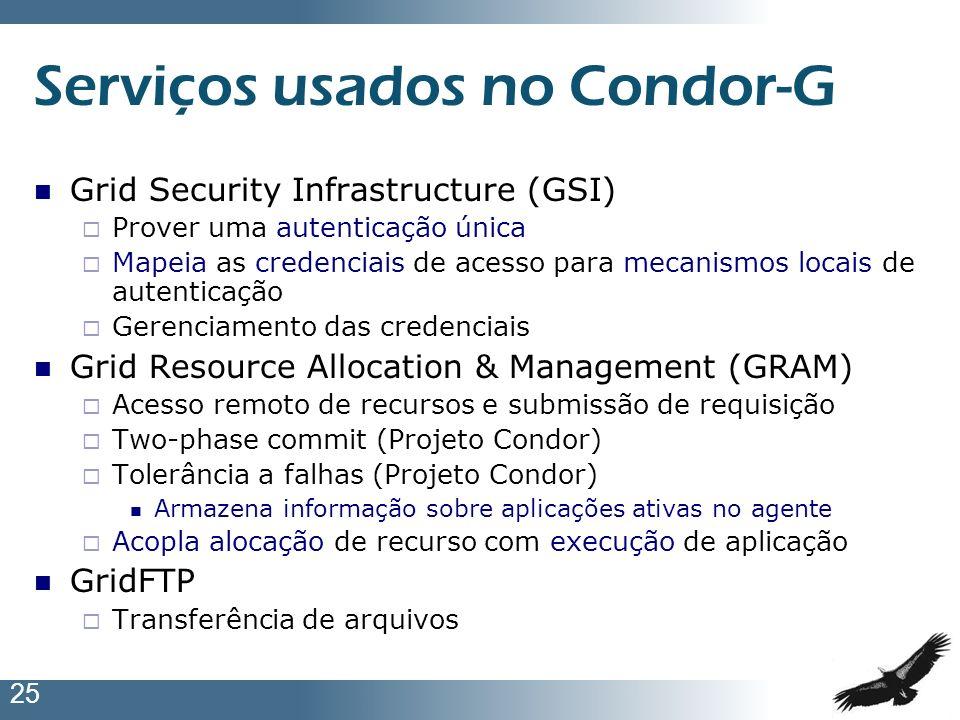 Serviços usados no Condor-G