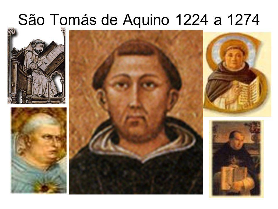São Tomás de Aquino 1224 a 1274
