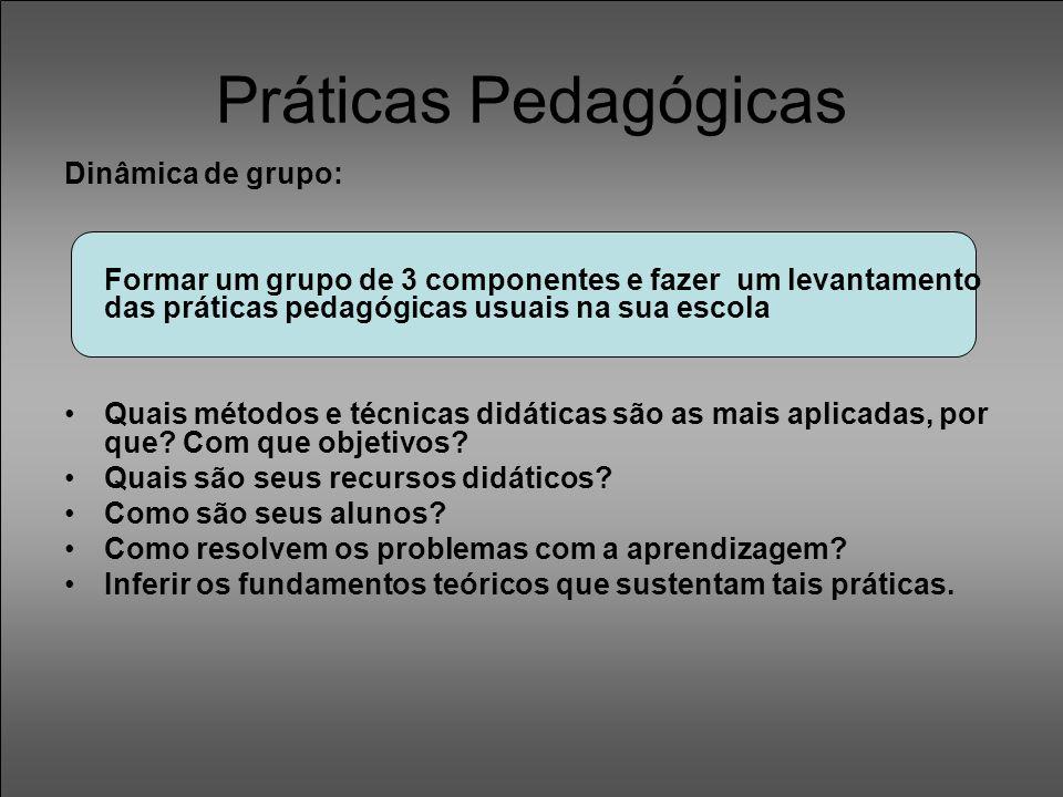 Práticas Pedagógicas Dinâmica de grupo: