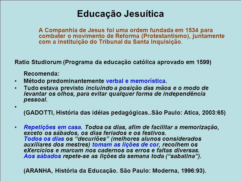 Educação Jesuítica