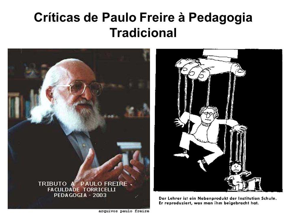 Críticas de Paulo Freire à Pedagogia Tradicional