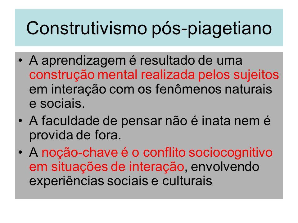 Construtivismo pós-piagetiano