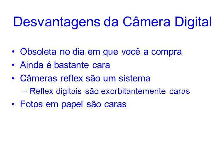 Desvantagens da Câmera Digital