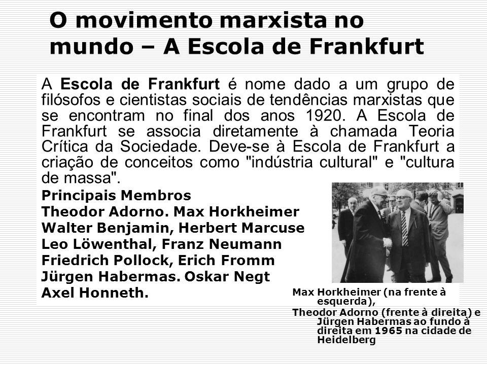 O movimento marxista no mundo – A Escola de Frankfurt