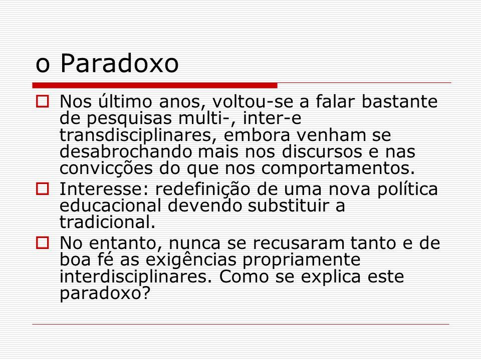 o Paradoxo