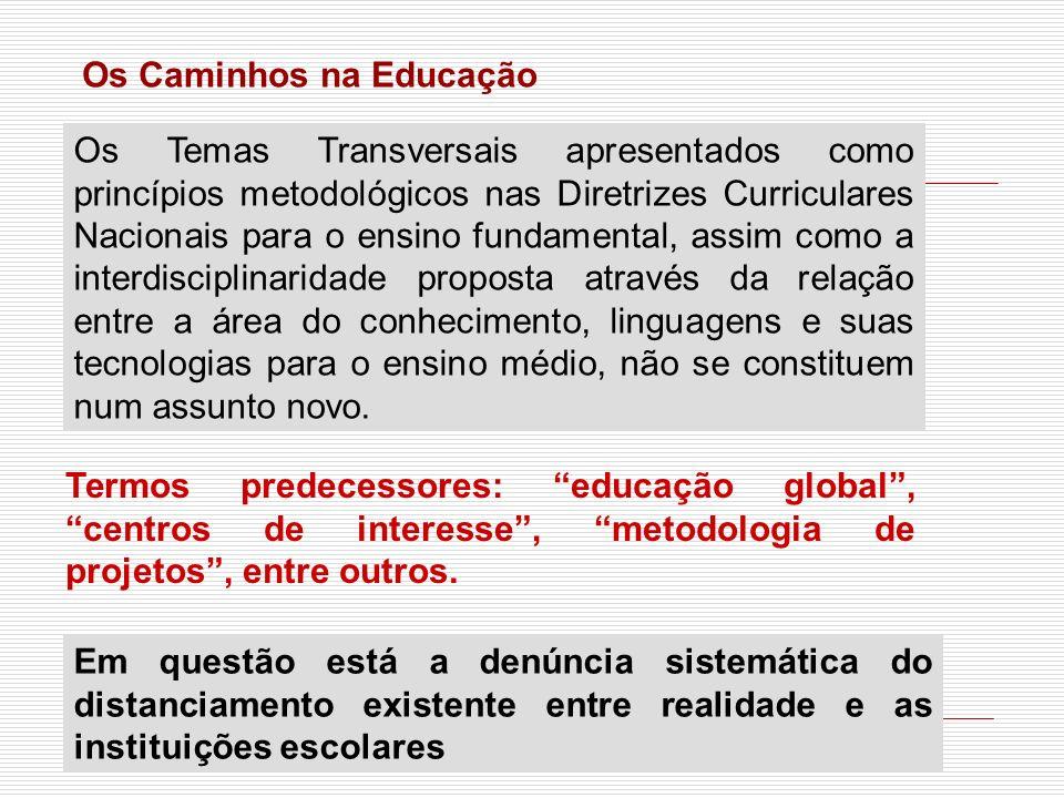 Os Caminhos na Educação