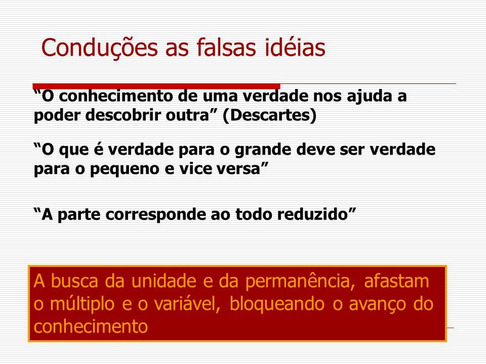 Conduções as falsas idéias
