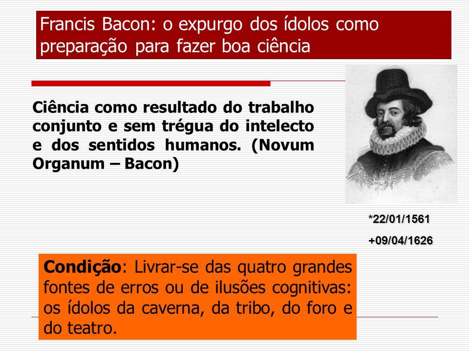 Francis Bacon: o expurgo dos ídolos como preparação para fazer boa ciência