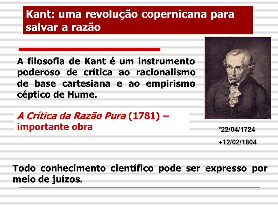 Kant: uma revolução copernicana para salvar a razão