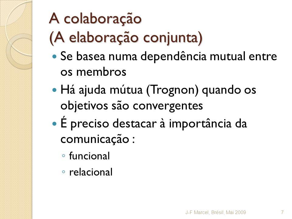 A colaboração (A elaboração conjunta)