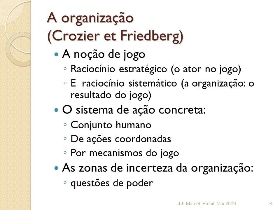 A organização (Crozier et Friedberg)