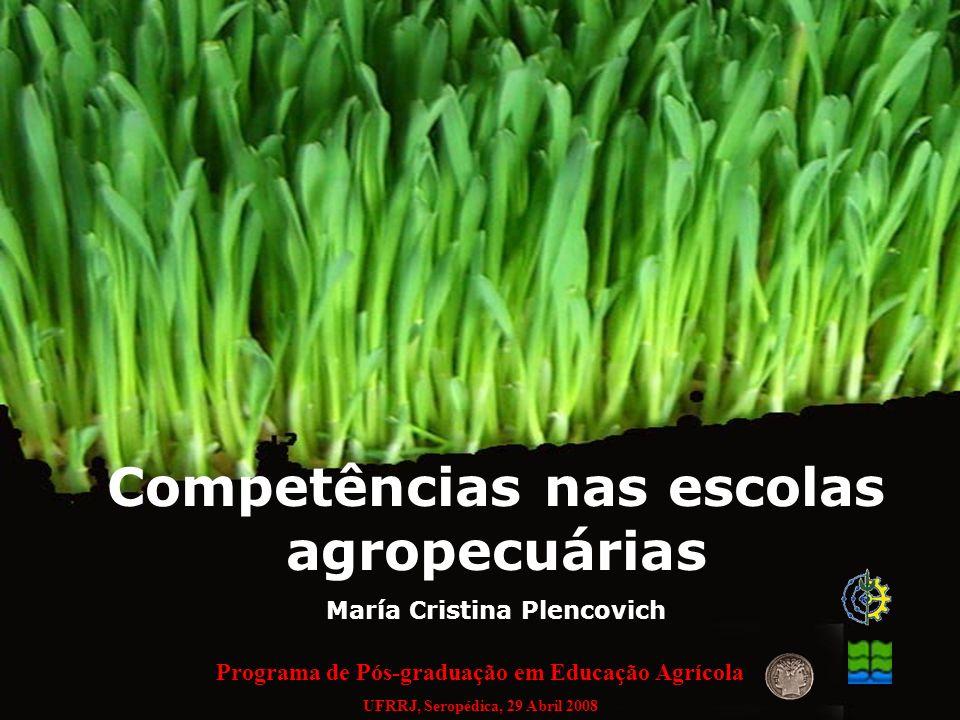 Competências nas escolas agropecuárias