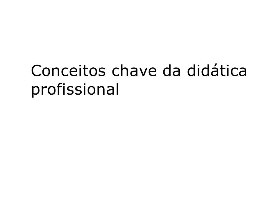 Conceitos chave da didática profissional