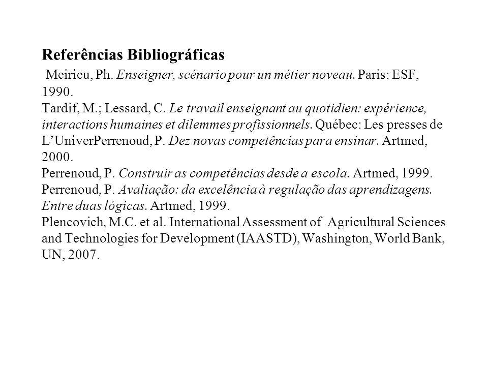 Referências Bibliográficas Meirieu, Ph