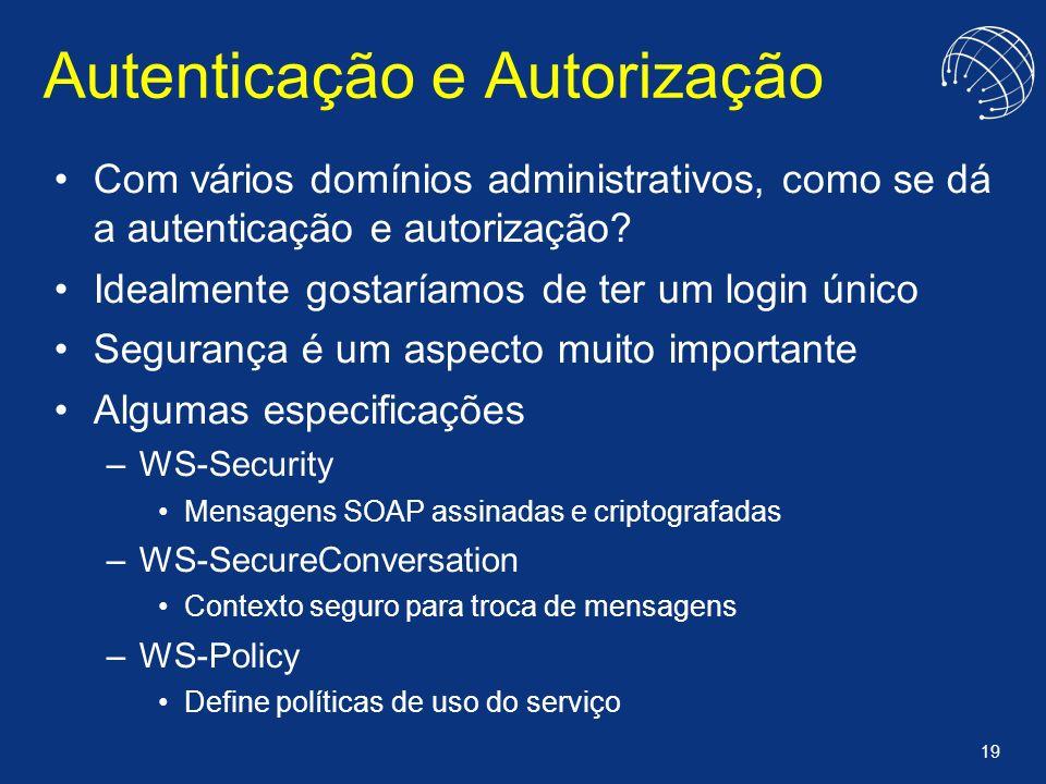 Autenticação e Autorização